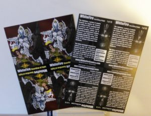 Front and back of the cards delivered by Vistaprint.